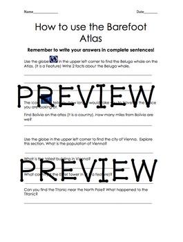 Introduction: Barefoot Atlas App Worksheet