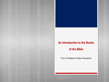 Introduction to the Books of the Bible