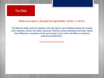 Books of the Bible PowerPoint