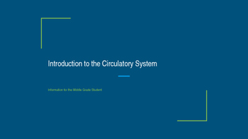Introduction to the Circulatory System