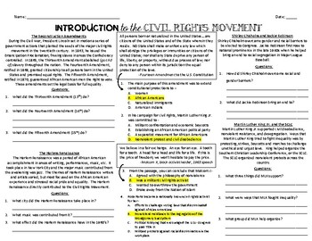 Introduction to the Civil Rights Movement