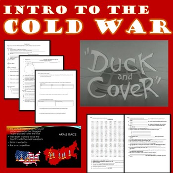 Introduction to the Cold War Powerpoint, Cloze Notes, and Word Search