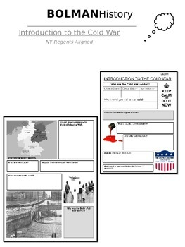 Introduction to the Cold War - worksheet (NYS Regents Aligned)