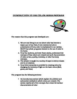 Introduction to the Color Mixer Program