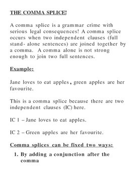 Introduction to the Comma Splice Overhead