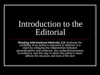 Introduction to the Editorial