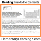 Introduction to the Elements (Reading Comprehension)