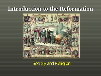 Introduction to the European Reformation