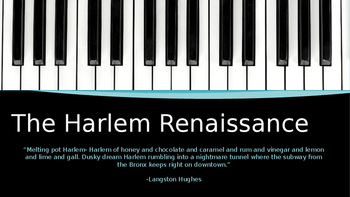 Introduction to the Harlem Renaissance