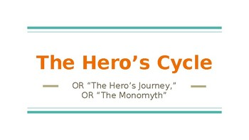 Introduction to the Hero's Cycle or Hero's Journey Lesson and Guided Notes