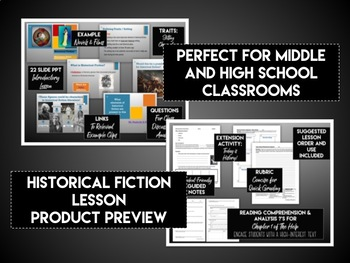 Introduction to the Historical Fiction Genre Lesson