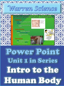 Power Point: Introduction to the Human Body- Unit 1 in Series (Fall)