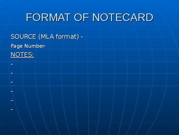 Introduction to MLA and notetaking