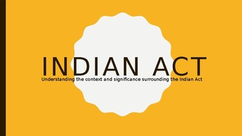 Introduction to the Indian Act
