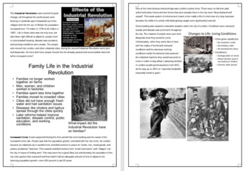 Introduction to the Industrial Revolution + video review questions