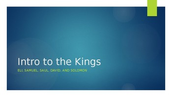 Introduction to the Kings of Israel