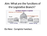Introduction to the Legislative Branch