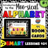 Introduction to the MUSICAL ALPHABET Boom Cards™ Music Game Fun Music Activity