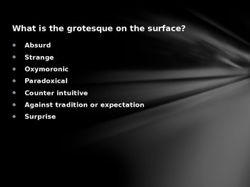 Introduction to the Modern Grotesque