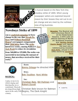 Introduction to the Musical Newsies