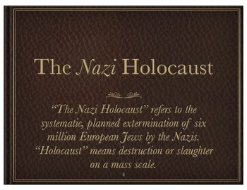 Introduction to the Nazi Holocaust