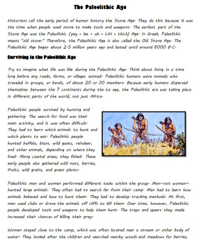 Introduction to the Paleolithic Era - The Stone Age