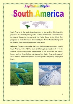 Introduction to the Physical Geography of South America