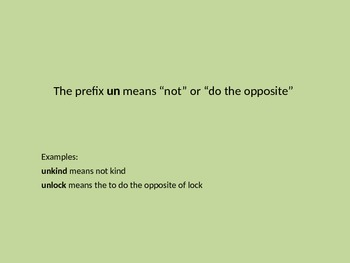 Introduction to the Prefixes un- and re-