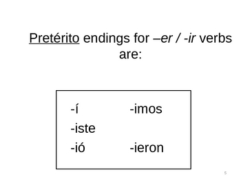 Introduction to the Preterite