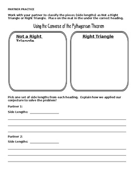 Introduction to the Pythagorean Theorem Handout