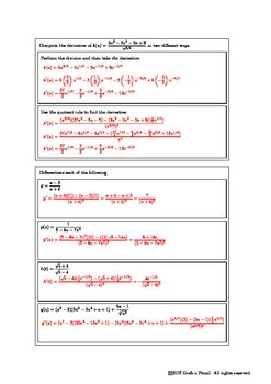 Introduction to the Quotient Rule
