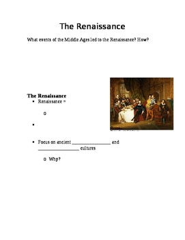 Introduction to the Renaissance Guided Notes