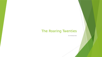 Introduction to the Roaring 20's