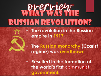 Introduction to the Russian Revolution PowerPoint