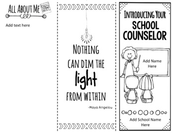 Introduction to the School Counselor {Editable}