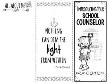 Introduction to the School Counselor Editable