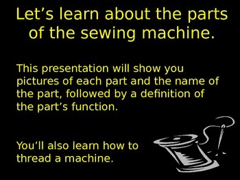Introduction to the Sewing Machine