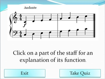 Introduction to the Staff - An Interactive Music Activity (With Quiz)