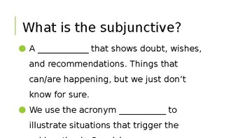 Introduction to the Subjunctive Mood