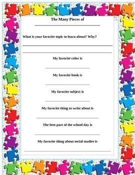 Introduction to the Teacher: The Many Pieces of ________
