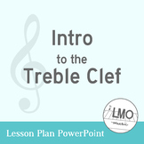 Introduction to the Treble Clef staff PowerPoint using Chi