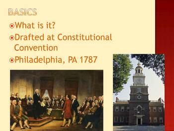 Introduction to the U.S. Constitution PowerPoint Presentation