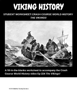 Crash course history Vikings video worksheet, Introduction to the Vikings
