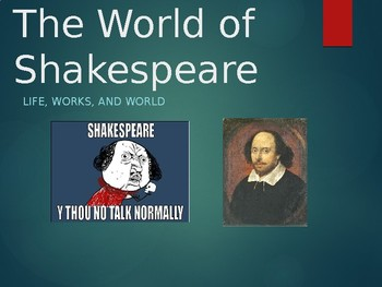 Introduction to the World of Shakespeare