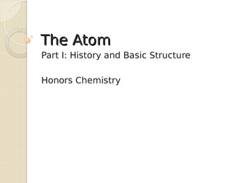 Introduction to the atom unit powerpoint