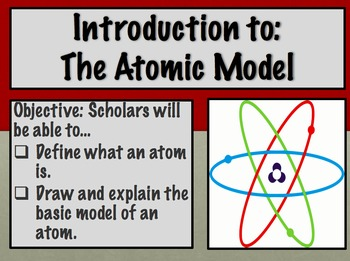 Introduction to the atomic model