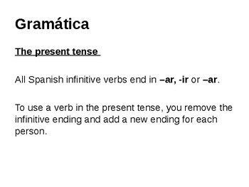 Introduction to the present tense in Spanish