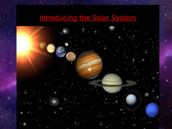 Introduction to the solar system powerpoint presentation