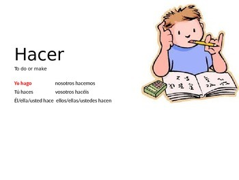Introduction to the verb Hacer