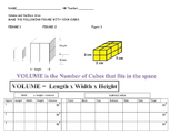 Introduction to volume and surface area using snap cubes